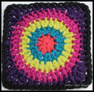 Granny's Circle in Square Purple