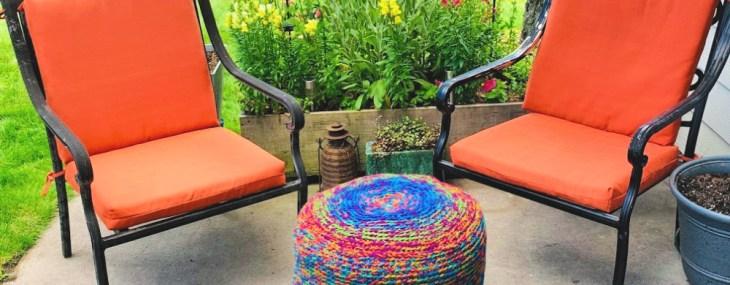 Scraptastic Ottoman… Free Crochet Pattern!!