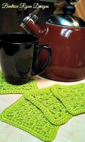 Amazing Grace Coaster Set - Free Crochet Pattern