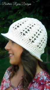 Sunshine and Shells Summer Crochet Hat