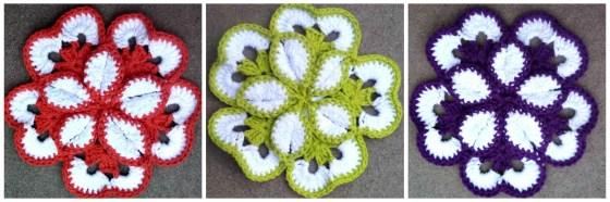 Flower Potholder Trio