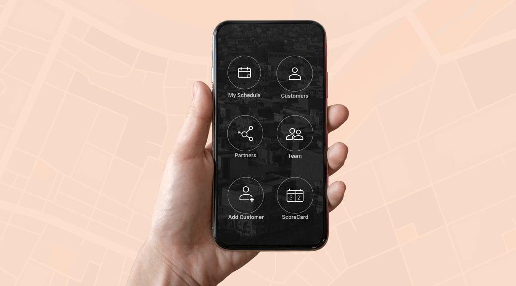 mobile field sales app