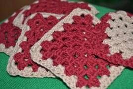 My first granny square crochet...