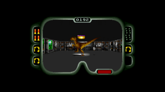 My god, its so realistic! It actually looks like there's a real dinosaur doing the Thriller dance in front me!