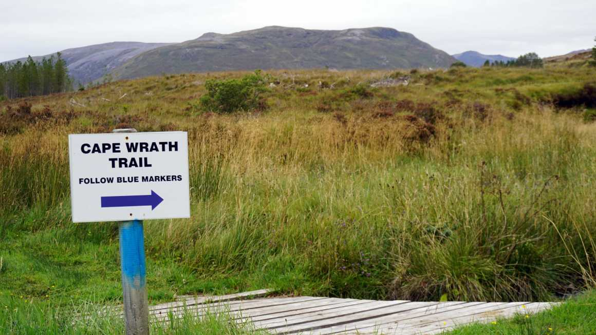 Cape Wrath Trail Guide signpost