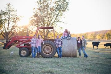 Katy & Tyler's Family on the Farm