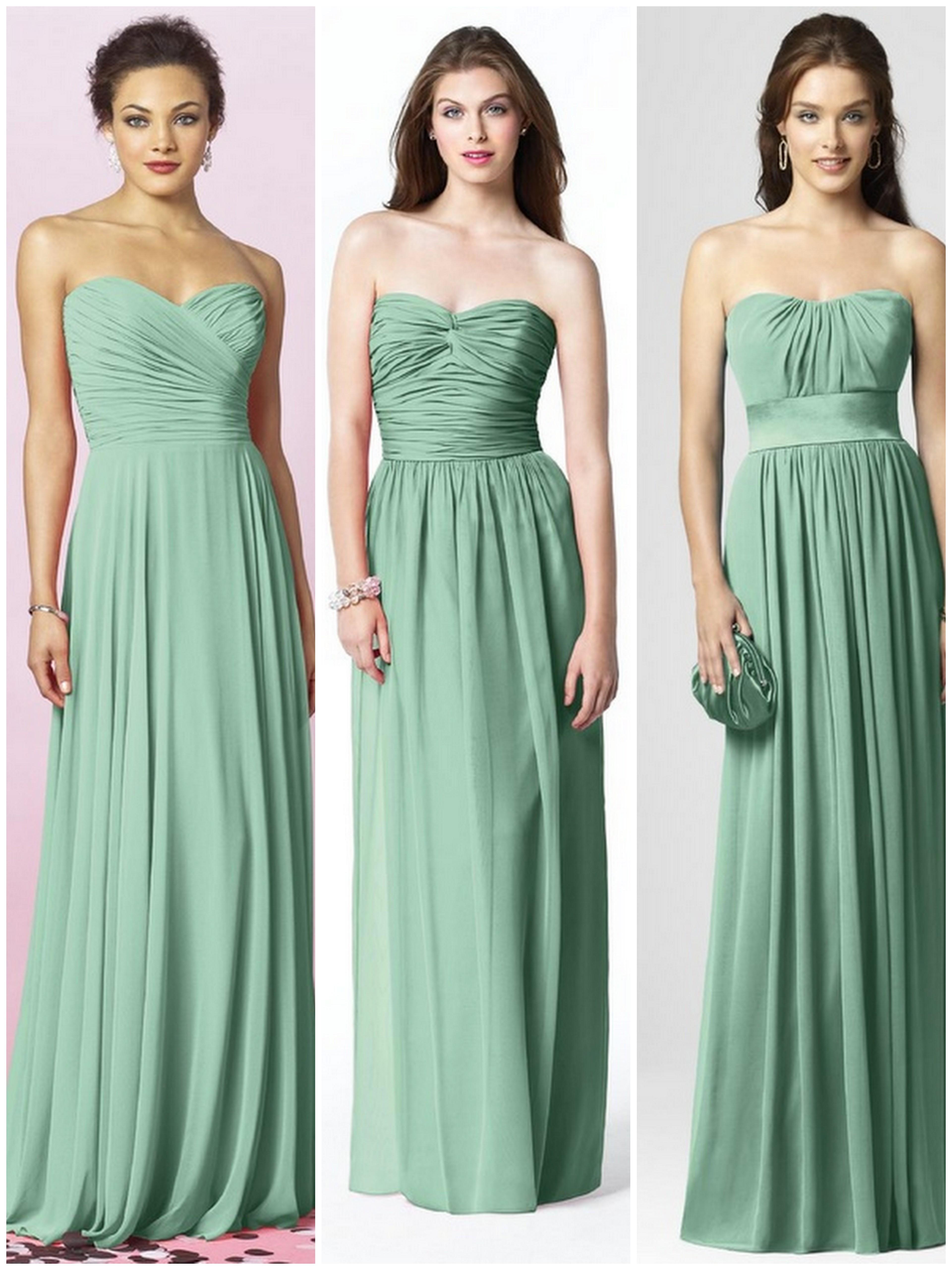 Green & Blue Bridesmaid Dresses