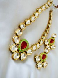 Reverse Ruby Drop Kundan Neck piece