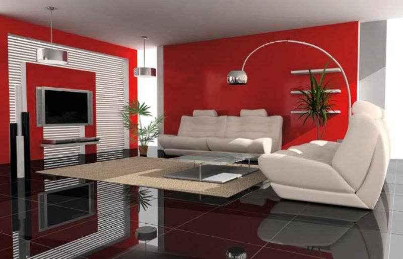 dcoration salon moderne peinture