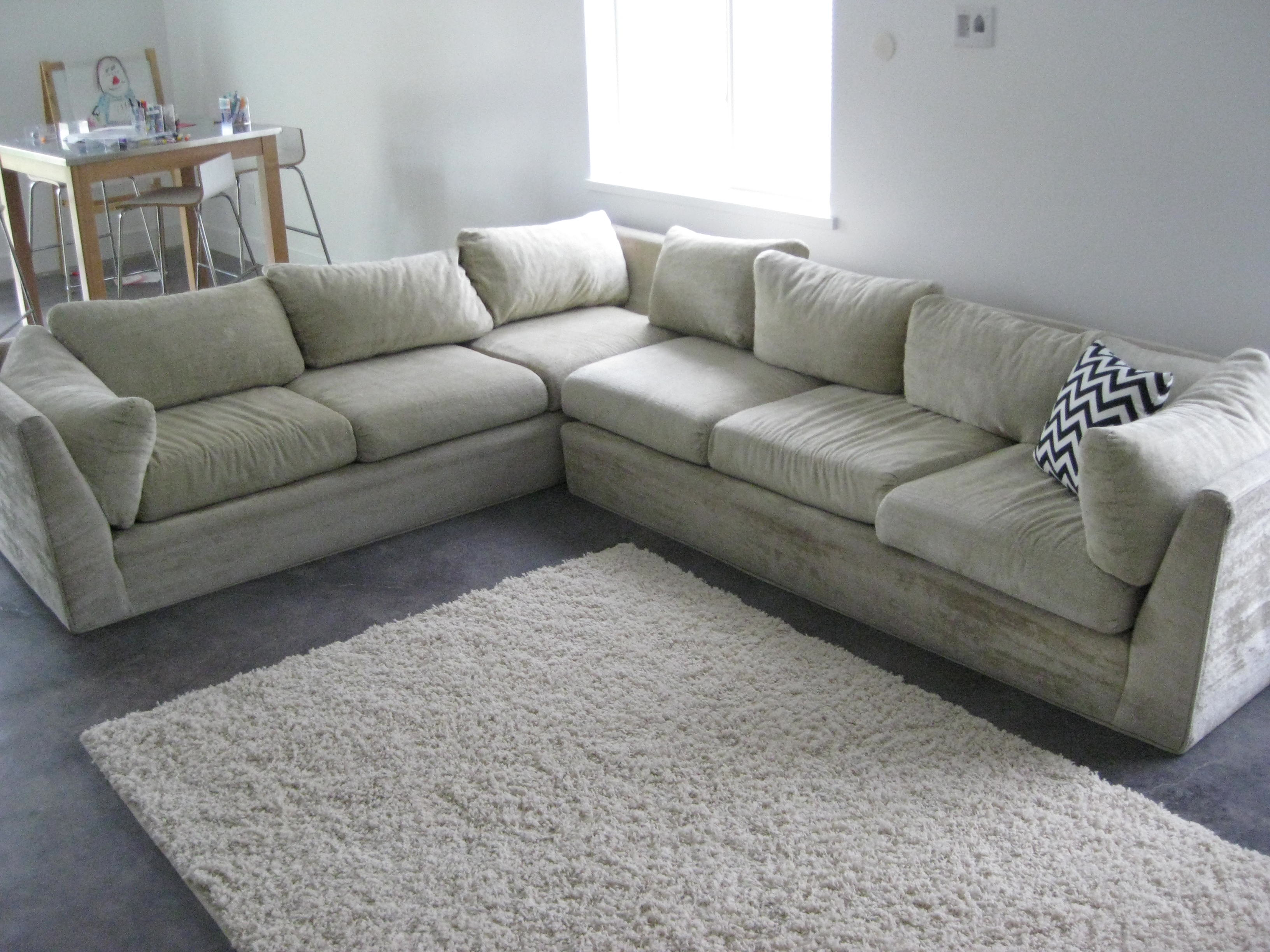 sofa reupholstering walmart gl table 40 year old sectional reupholstered beau court family