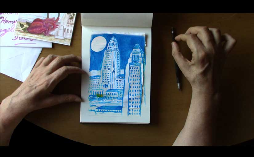 featured image showing sketchbook and hands