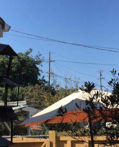Blue skies Sunday morning.