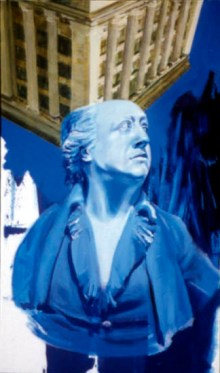 18th Century Blue, 1999 Alkyd/canvas, 38 1/2 x 22 1/2″