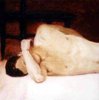 "Reclining Figure, 2002 Oil/canvas 23 x 23"""