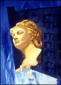 Blue Lady, 2000, Alkyd/canvas, 72 x 52″