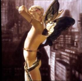 Cupid de Locke, 1996, Acrylic/canvas, 32 x 32″