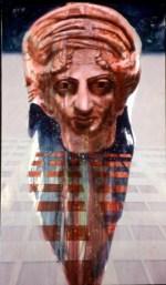 """Mithras, 1995 Acrylic/canvas 60 x 35"""""""