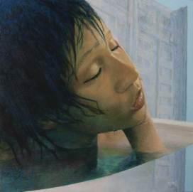 """Raven, 2014 Acrylic/canvas 20 x 20"""""""