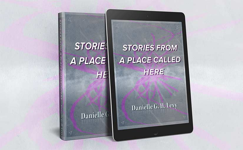 book cover in e-reader mock-up
