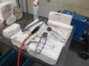 Torch setup for heat patina