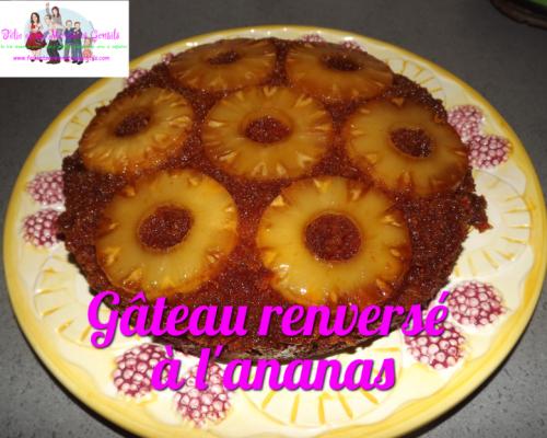 Gâteau renversé à l'ananas {Recette}