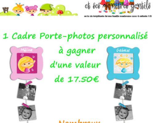 Cadre porte-photos personnalisable de la Chtite Fée {Test + Concours}