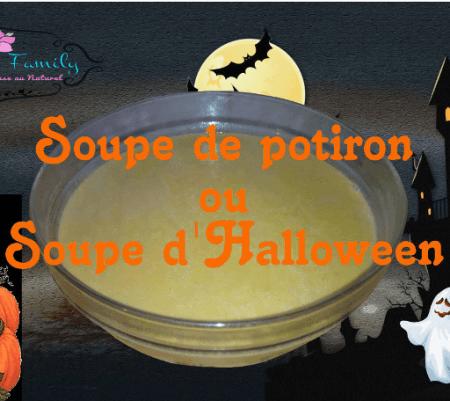 Soupe de potiron ou soupe Halloween