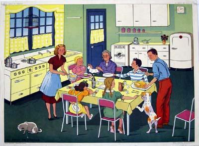 repas-famille / repas avec ses enfants