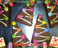 Sapins de Noël au chocolat {Recette}