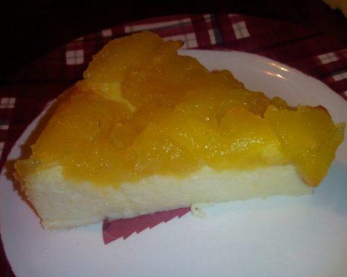 Gâteau au fromage blanc et pommes caramélisées {Recette}