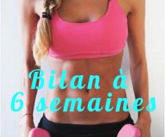 Top Body Challenge, après 6 semaines je lève le pied