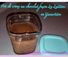 Pot de crème au chocolat façon La Laitière (en Yaourtière)