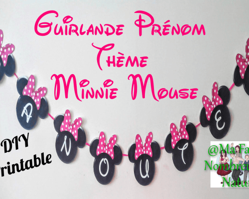 Guirlande prénom Minnie Mouse {DIY Printable}