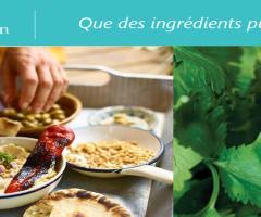 On mange sainement et méditerranéen avec les produits bio Florentin