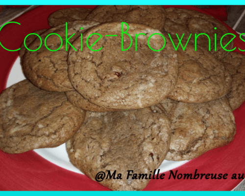 Cookie-Brownies {Recette}