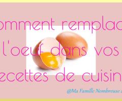 Remplacer l'œuf dans vos recettes de cuisine