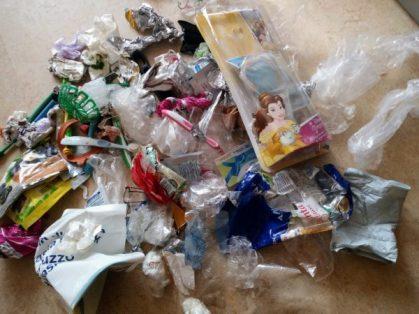 déchets non recyclables pour 2 mois