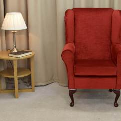 Red Wing Chair Empty Chairs At Tables Sheet Music Back Orthopaedic Fireside In A Chenille