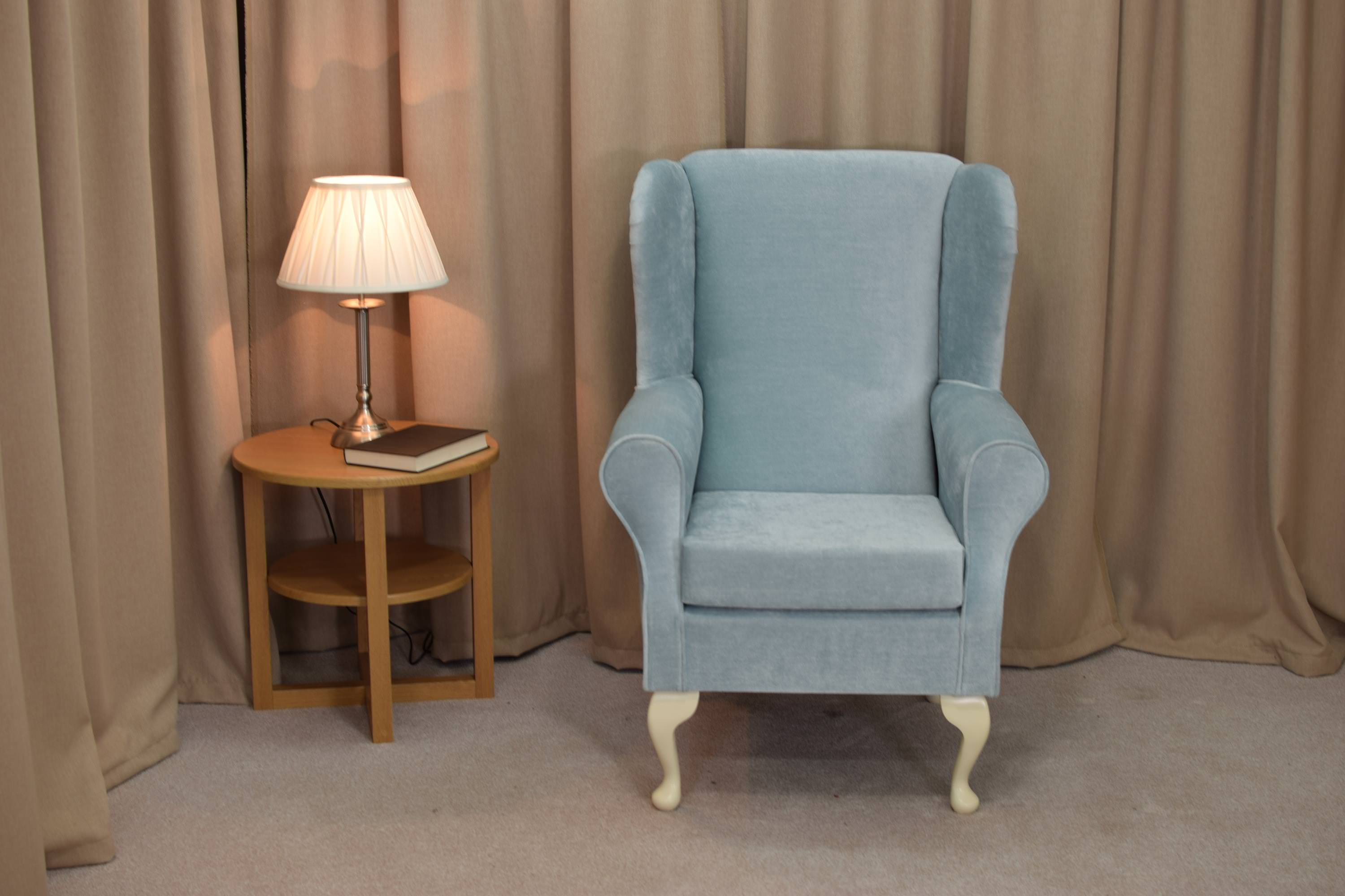 Teal Wingback Chair Details About Fireside Wingback Chair In A Duck Egg Velvet Fabric Free Uk Mainland Delivery