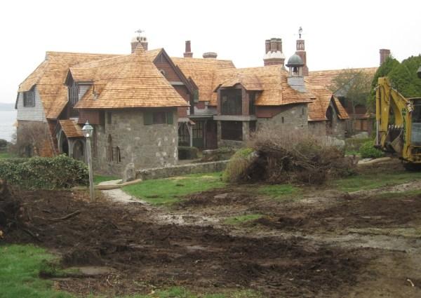 landscape restoration in process