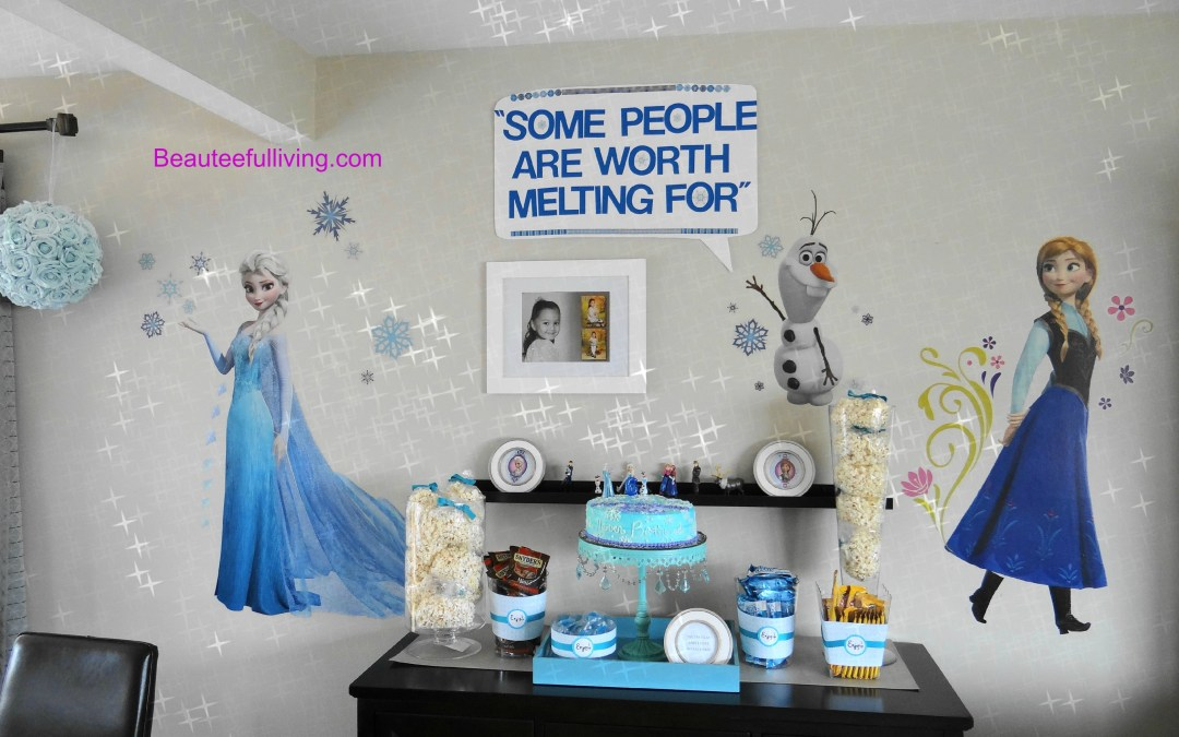 A Very Frozen Themed Birthday Party