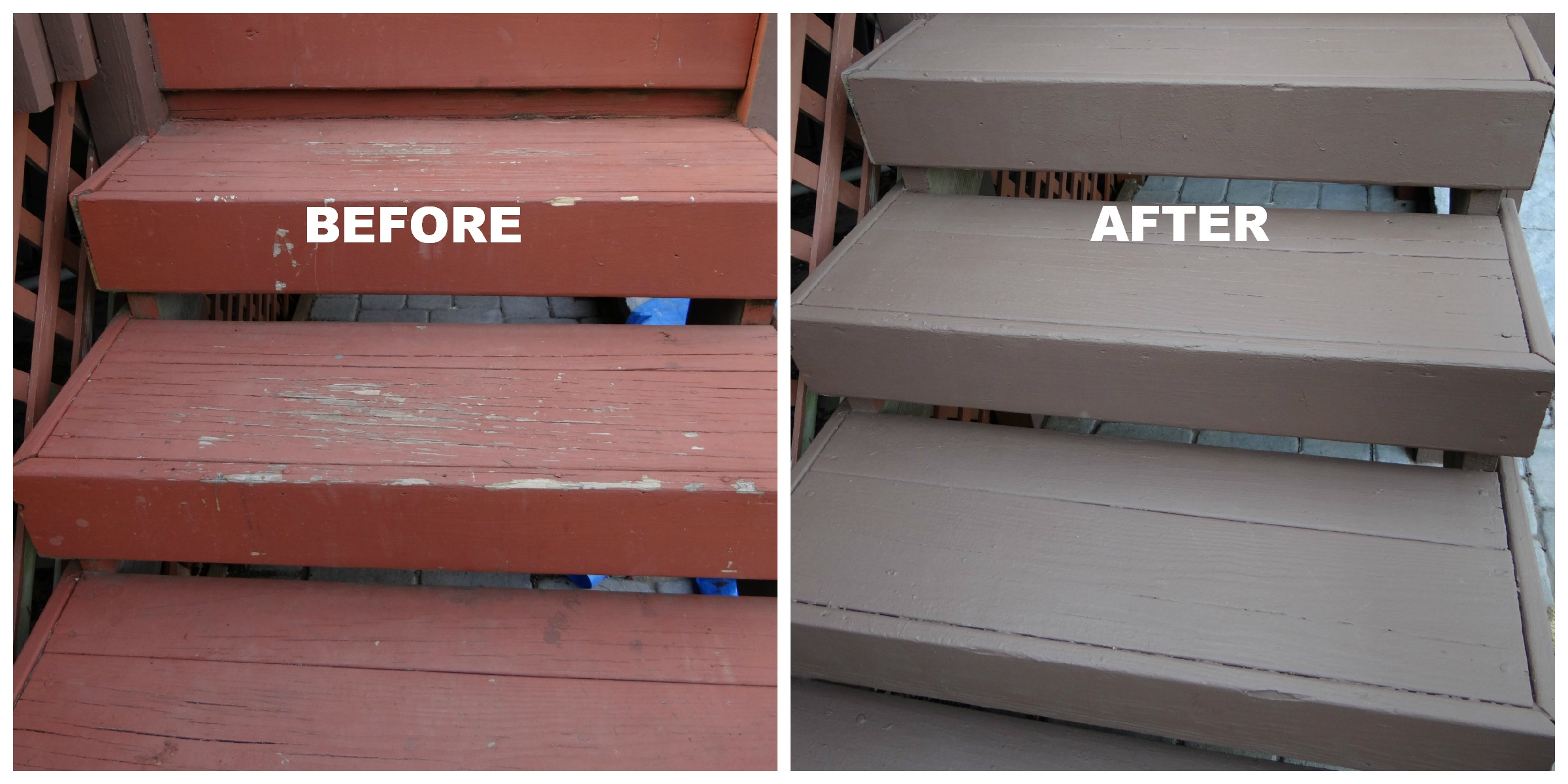 5 things we realize from repainting deck beauteeful living for Deck paint colors home depot
