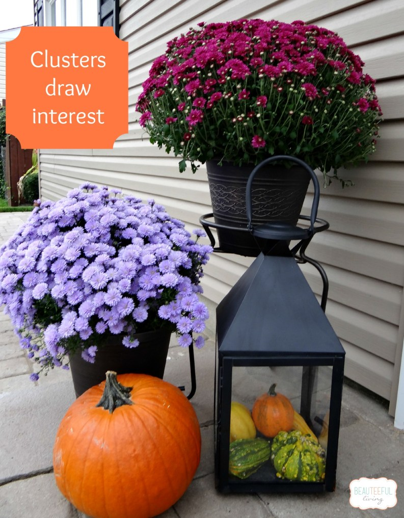 fall outdoor decor clusters