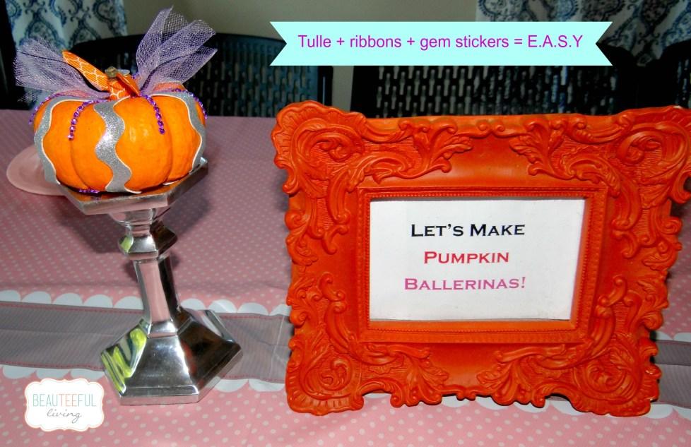 Pumpkin ballerina craft