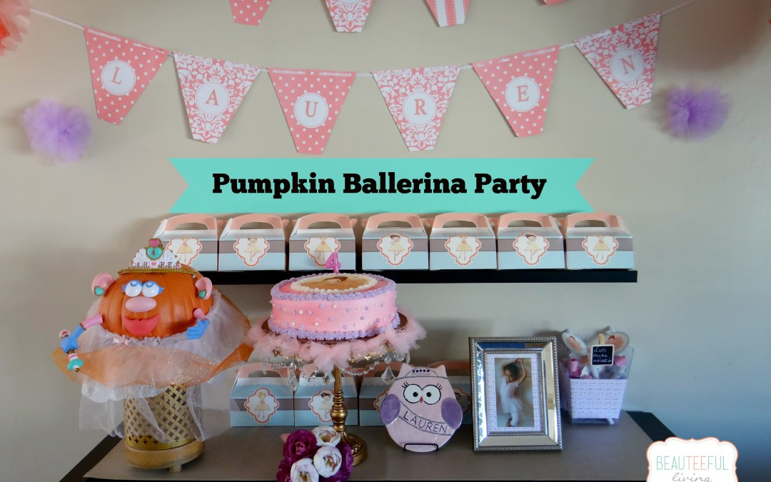 Pumpkin Ballerina Birthday Party