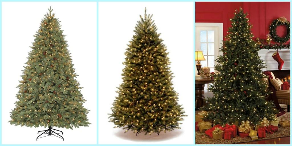 Prelit Tree collage