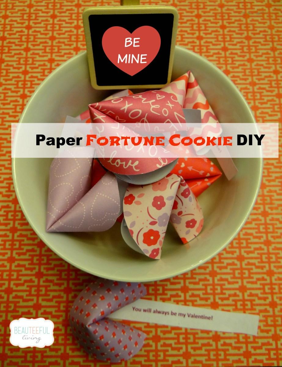 Paper Fortune Cookie DIY