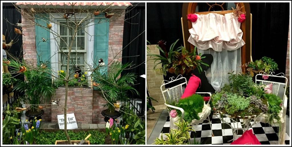Flower show displays