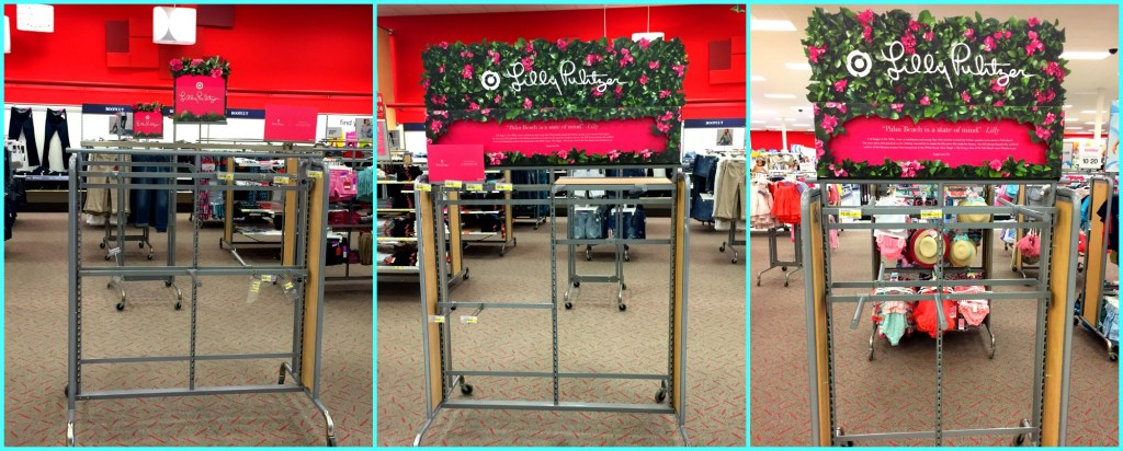 Empty Lilly for Target racks collage