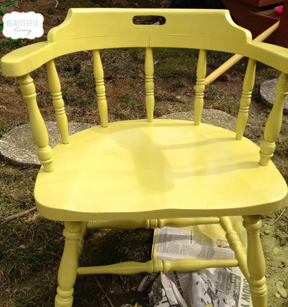 Painted chair rev